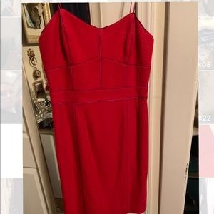 Banana Republic red and purple dress NWT size 4
